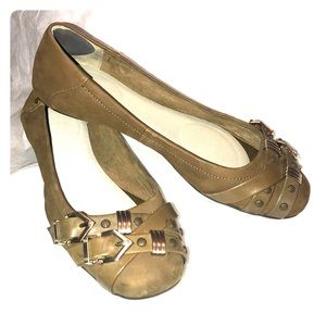 GB GIANNI BINI OLIVE GREEN FLATS